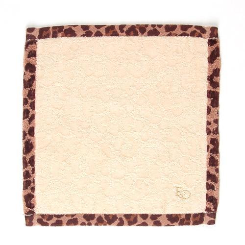 ピンキー&ダイアン タオルハンカチ ふち豹柄 1袋(同色3枚入) 107-655