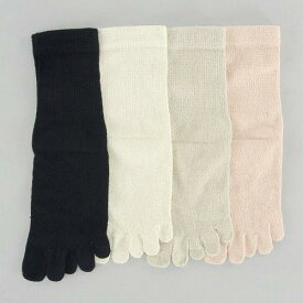シルク小物 絹5本指ソックス 167-055