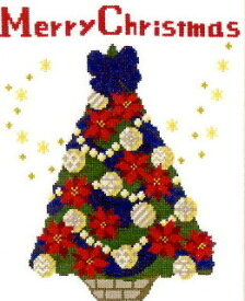 オリムパス 手芸キット クリスマス クロスステッチ 聖夜のツリー X-107