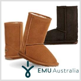 【EMU AUSTRALIA】エミューオーストラリア WALLABY LO キッズ/ ワラビーロー ムートンブーツ/ショートブーツ★全2色 k10102