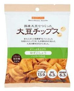 【1〜2個はメール便対応可】【ビオクラ】大豆チップス ゆずこしょう 35g