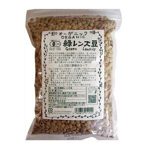 2004525-1-ms 【お取り寄せ商品】 オーガニック 緑レンズ豆 500g×10個セット【桜井食品】