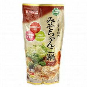 【秋冬限定】【マルサンアイ】コクとうま味のみそちゃんこ鍋スープ600g×6個セット