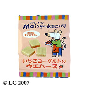 メイシーちゃん(TM)のおきにいり いちごヨーグルトのウエハース 12個×5袋セット【創健社】