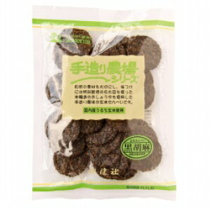 4160350-sk 手造り農場 玄米せんべい黒胡麻 100g【創健社】