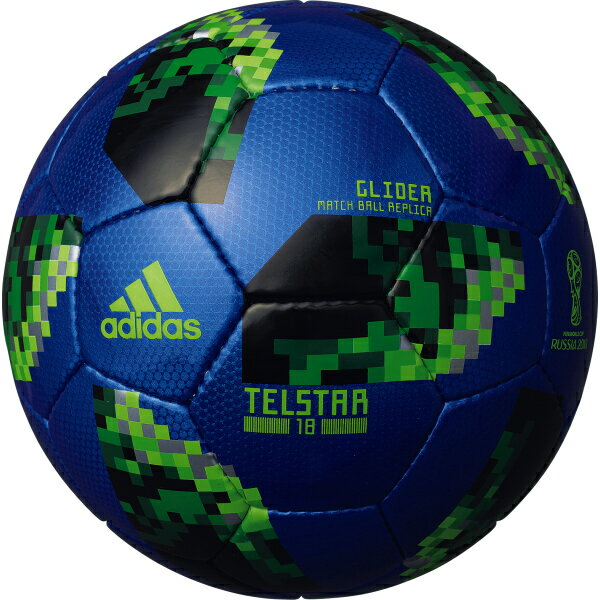 テルスター 18 試合球レプリカ グライダー ブルー 【adidas アディダス】サッカーボール5号球af5304bg