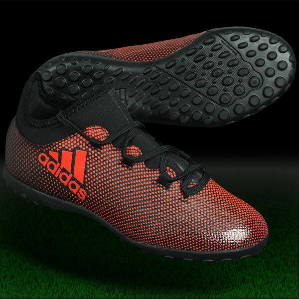ジュニア エックス タンゴ 17.3 TF J コアブラック×ソーラーレッド 【adidas|アディダス】ジュニアフットサルシューズcg3734