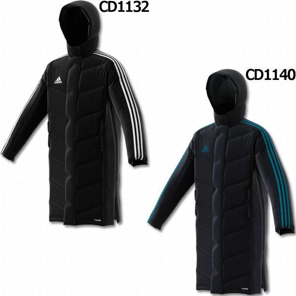 ジュニア KIDS SHADOW ロングパデッドコート 【adidas|アディダス】サッカーフットサルジュニア防寒ウェアーdlk51