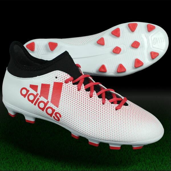 エックス 17.3 HG ランニングホワイト×リアルコーラルS18 【adidas|アディダス】サッカースパイクcq1978