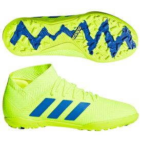 ジュニア ネメシス 18.3 TF J ソーラーイエロー×フットボールブルー 【adidas|アディダス】サッカーフットサルジュニアトレーニングシューズcm8516