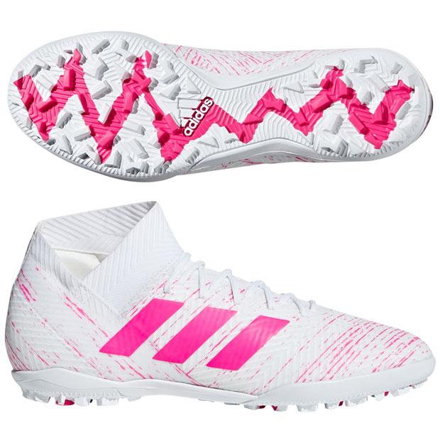 ネメシス 18.3 TF ランニングホワイト×ショックピンクF18 【adidas|アディダス】サッカーフットサルトレーニングシューズd97984