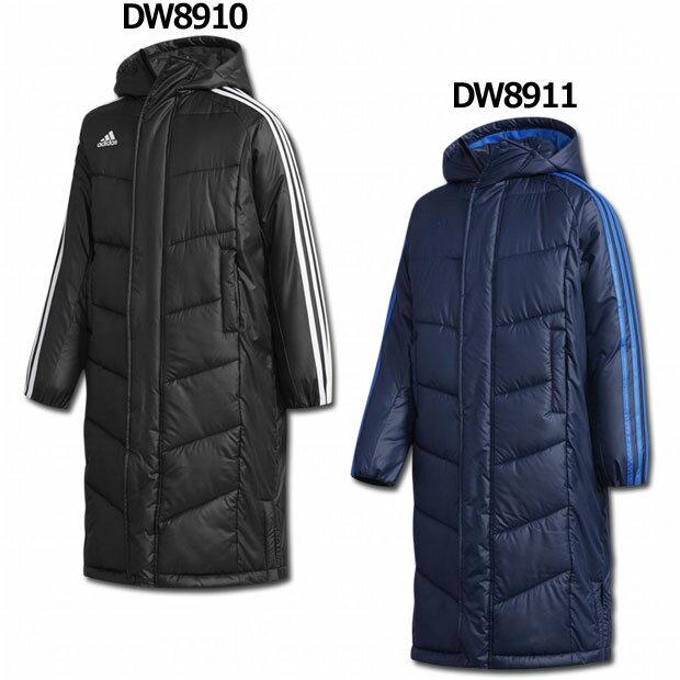 ジュニア KIDS ESS パデッドロングコート 【adidas アディダス】サッカーフットサルジュニア防寒ウェアーfvw50