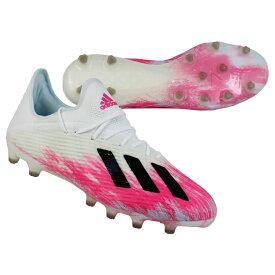 エックス 19.1 AG フットウェアホワイト×ショックピンク 【adidas|アディダス】サッカースパイクeg7123