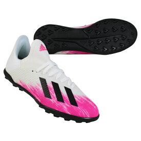 ジュニア エックス 19.3 TF J フットウェアホワイト×ショックピンク 【adidas|アディダス】サッカーフットサルジュニアトレーニングシューズeg7174