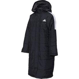ジュニア B MHコート ブラック 【adidas|アディダス】サッカーフットサルジュニア防寒ウェアーfyq40-ec9237