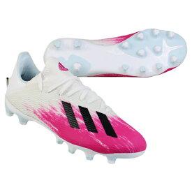 エックス 19.3 HG/AG フットウェアホワイト×ショックピンク 【adidas|アディダス】サッカースパイクeg1494