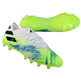 ネメシス 19.1 AG フットウェアホワイト×シグナルグリーン 【adidas|アディダス】サッカースパイクeg7333