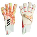 プレデター グローブ プロ フィンガーセーブP ホワイト×ポップ 【adidas|アディダス】サッカーゴールキーパーグロ…