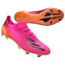 エックス ゴースト.1 FG ショックピンク×コアブラック 【adidas|アディダス】サッカースパイクfw6897