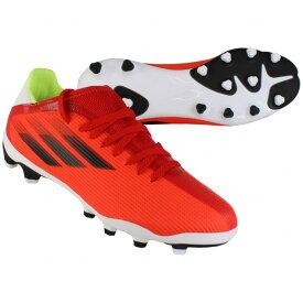 ジュニア エックス スピードフロー.3 HG/AG J レッド×コアブラック 【adidas|アディダス】サッカージュニアスパイクfy3261