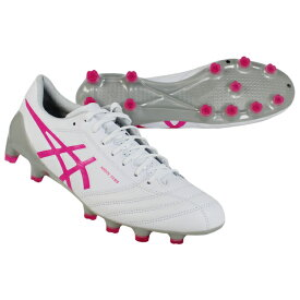 DSライト X-FLY 4 ホワイト×ピンクグロウ 【asics|アシックス】サッカースパイク1101a006-118