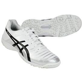 ジュニア DSライト 3 Jr TF ホワイト×ブラック 【asics アシックス】サッカージュニアトレーニングシューズ1104a001-103