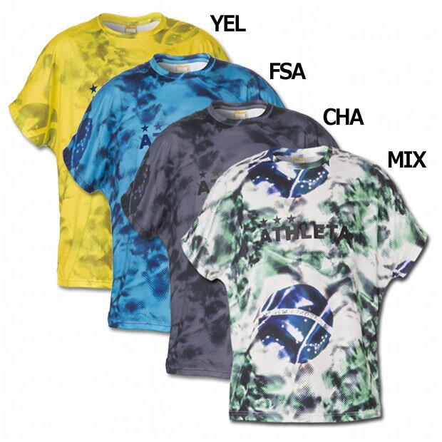 ジュニア プラクティス柄Tシャツ 【ATHLETA|アスレタ】サッカーフットサルジュニアウェアー02315j