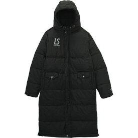 ベンチコート ブラック 【LUZ e SOMBRA|ルースイソンブラ】サッカーフットサル防寒ウェアーf2011214-blk