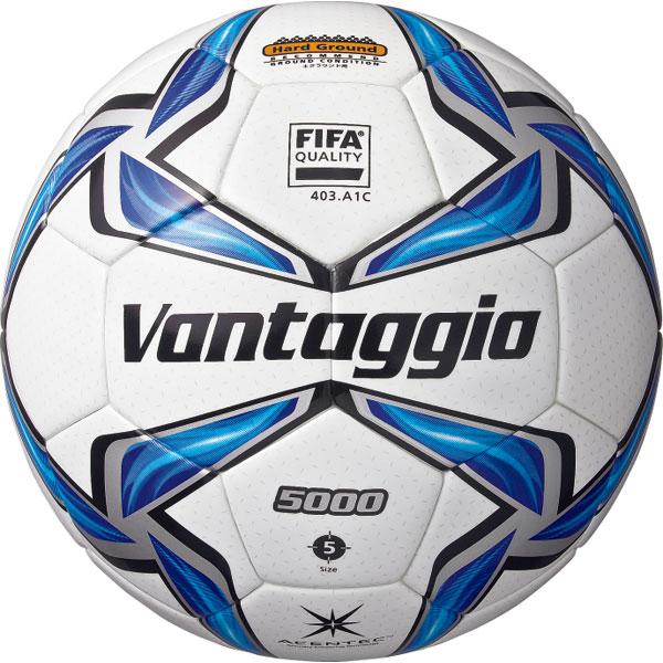 ヴァンタッジオ5000 土用5号球 スノーホワイト×ブルー 【molten モルテン】サッカーボール5号球f5v5001