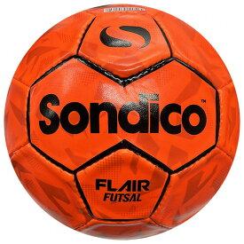 フレア フットサル オレンジ×ブラック 【Sondico|ソンディコ】フットサルボール4号球822019-12-4