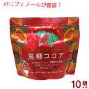 黒糖ココア 190g×10個セット(海邦商事)【送料無料】|黒糖 ココア|