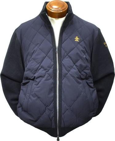 【セール/送料無料】マンシングウエア メンズ カーディガン JWMK422 前身頃にダウン使用セーター2017秋冬 L/LL