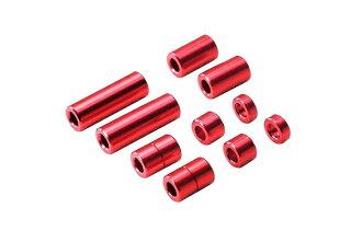 小四輪驅動車鋁墊片安排12/6.7/6/3/1.5mm各2種紅升級零件改造