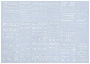 ハイキューパーツ スポンサーロゴデカール01S ホワイト【新品】 HiQparts プラモデル 改造