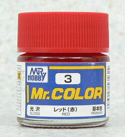 塗料 C3 レッド(赤)【新品】 GSIクレオス Mr.カラー 【メール便不可】