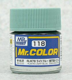 塗料 C118 RLM78 ライトブルー【新品】 GSIクレオス Mr.カラー 【メール便不可】