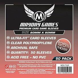 【メール便発送可】MDG-7145 カードスリーブ 80mmx80mm Premium Medium Square Card Sleeves(pack of 50【新品】 ボードゲーム カードゲーム アナログゲーム テーブルゲーム ボドゲ