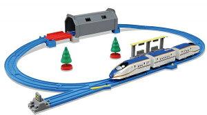 プラレール トンネルを照らそう! ライト付E7系新幹線かがやき ベーシックセット【新品】 タカラトミー セット 【宅配便のみ】
