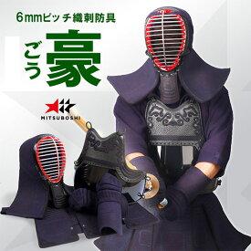 初心者に人気『豪(ごう)』6mmピッチ織刺 剣道防具セット(セーフティガード付)