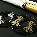 【アマビエ剣士シール付】剣道 竹刀用・鍔(つば・ツバ) 化粧つば ●虎(トラ)