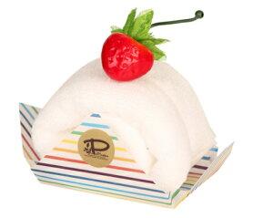 【日本製】今治 ケーキタオル ロールケーキ ハンカチ☆バニラ☆プチギフト 出産祝い お返し 高品質 かわいい 雑貨
