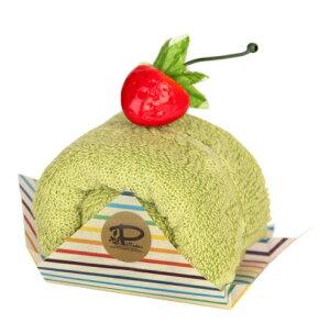 【日本製】今治 ケーキタオル ロールケーキ ハンカチ☆抹茶☆プチギフト 出産祝い お返し 高品質 かわいい 雑貨