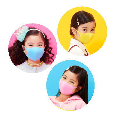 PITTA MASK KIDS SWEET ピッタマスク キッズ スイート 3枚3色入[個包装]/日本製/キッズサイズPINK/YELLOW/SAXEBLUE