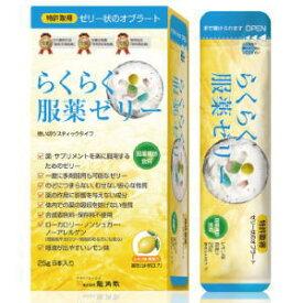 らくらく服薬ゼリー レモン味 25g×6本入3980円(税込)以上で送料無料