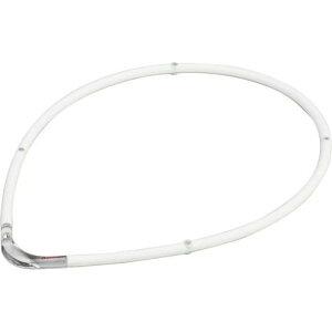 RAKUWA ラクワ磁気チタンネックレス SII ホワイト×クリア 55cm