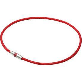 RAKUWA ラクワ磁気チタンネックレス ボルドー×メタリックレッド 45cm