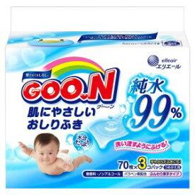 〇GOO.N(グーン) 肌にやさしいおしりふき 詰替 70枚×3P