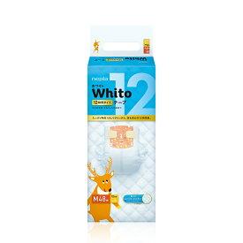 ネピア Whito テープタイプおむつ Mサイズ 12時間タイプ 48枚