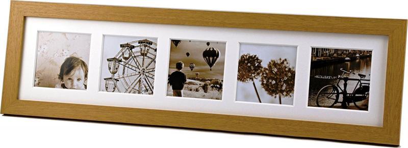 【2/28 23:59までポイント10倍】【即配】フォトフレーム 写真立て 木製フレーム ましかく窓フレーム 5窓タイプ ナチュラル【あす楽対応】