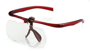 【即配】眼鏡の感覚で使用できるルーペ(拡大鏡) 双眼メガネルーペ(拡大鏡) 1.6倍 KTL-206 BR ブラウン ケンコートキナー KENKO TOKINA【あす楽対応】【送料無料】